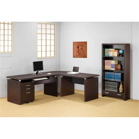 Modern L Shaped Computer Desk Papineau Contemporary L Shaped Computer Desk