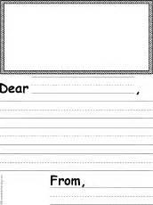 letter writing templates for grade grade