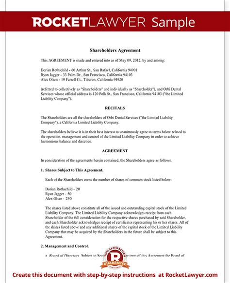 Agreement Letter For Investment Investors Agreement Investor Contract Agreement Form With Sle