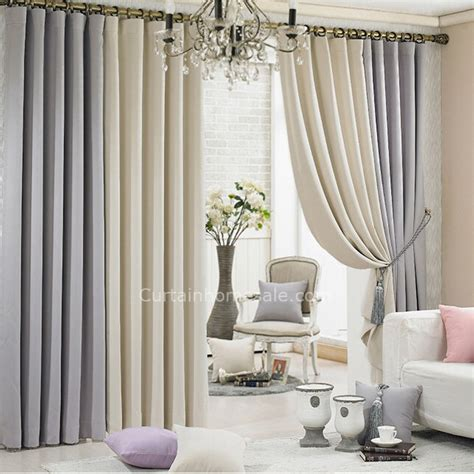 Gray And Beige Curtains Grey And Beige Eco Friendly Thick Cheap Quality Curtains