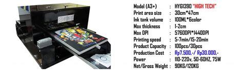 Printer Dtg Lokal bisnis mesin dtg hygmatic printing jual mesin printer