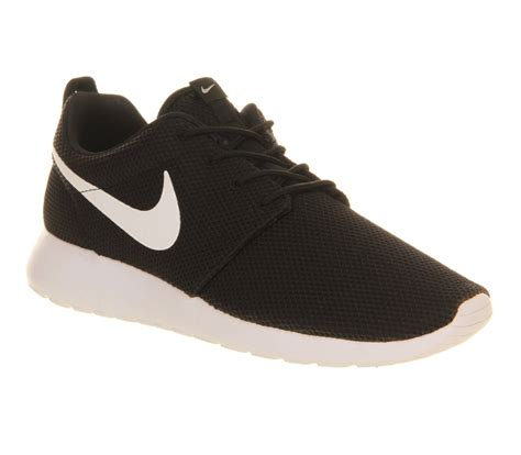 nike roshe run black white volt  unisex sports