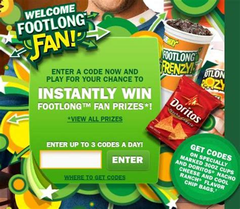 Kroger Football Instant Win - subway football frenzy instant win game new code to