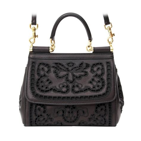 Dg Dolce And Gabbana Suzanne Satchel by Dolce And Gabbana Mini Sicily Bag Cutwork Napa Leather At