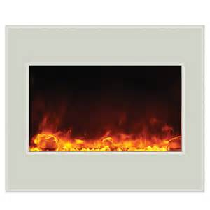 clearance electric fireplaces amantii 30 quot zero clearance electric fireplace white