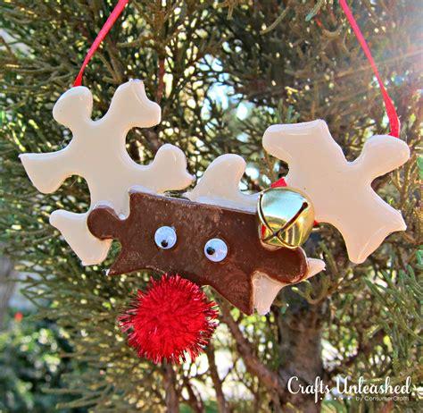 reindeer ornaments  puzzle pieces