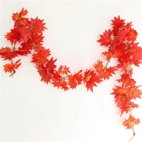 fall leaves garland decorations compare prices on autumn leaves decoration