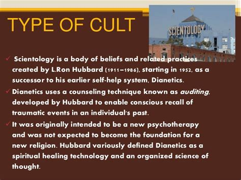 church of scientology beliefs