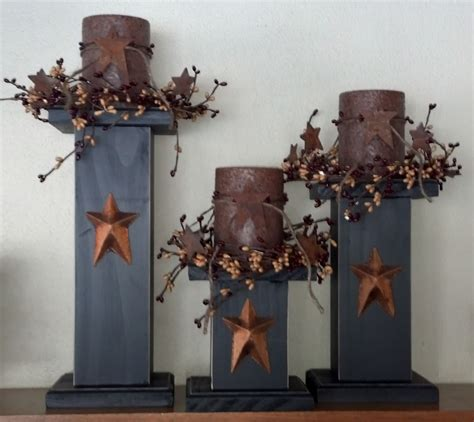 primitive home decor primitive candle stick holders primitive home decor
