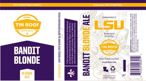 tin roof ale abv lsu has a name quot bandit quot journal