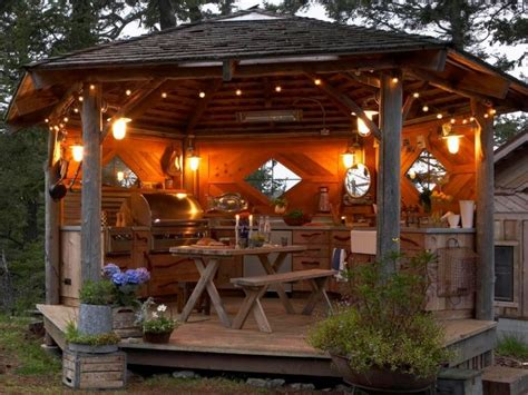 rustic outdoor kitchen ideas best 25 rustic outdoor kitchens ideas on
