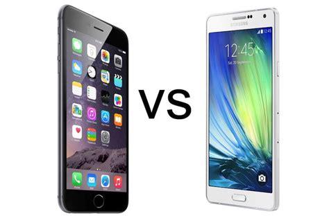 Samsung A7 Plus Iphone 6 Plus Vs Samsung Galaxy A7 Comparison Review