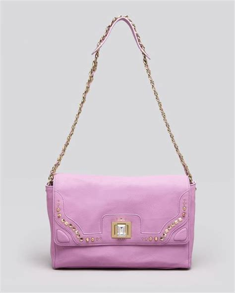 Couture Leather Shoulder Bag by Couture Shoulder Bag Freya Leather In Purple Orchid