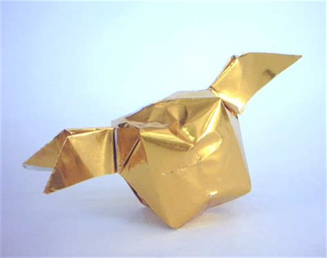Origami Golden Snitch - crafty lil thing happy