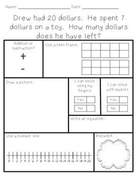 pop up math problems card template addition and subtraction word problems within 100