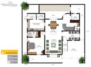 South Facing House Floor Plans Krc Shantiniketan Luxury Individual Bungalows Floorplan