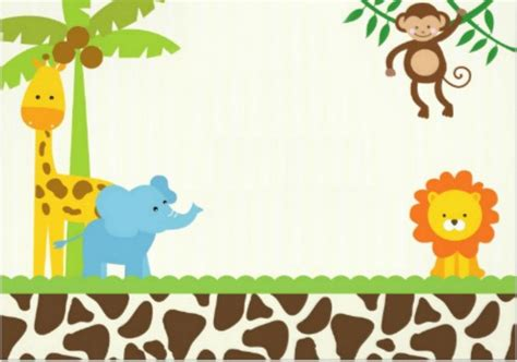 baby jungle animal border clip 16 safari animal templates images jungle animals baby