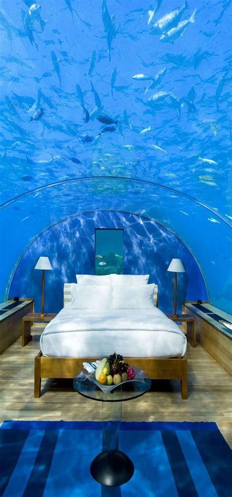 underwater bedroom in maldives underwater hotel room the maldives