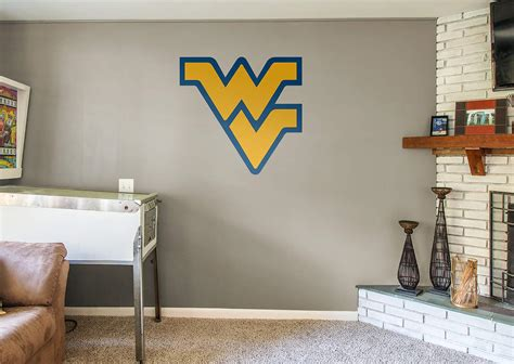 wvu home decor west virginia mountaineers logo wall decal shop fathead