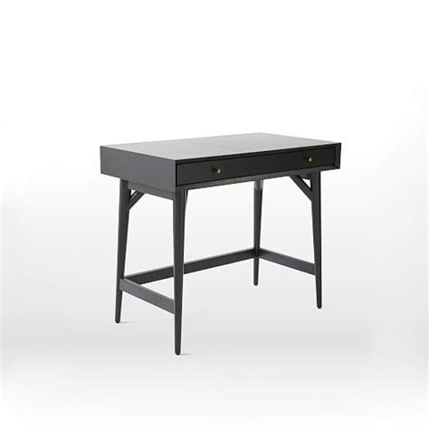 mid century mini desk mid century mini desk black west elm