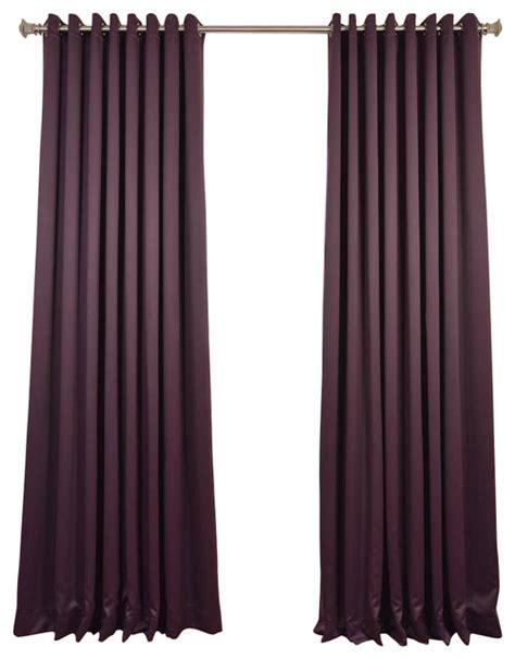 aubergine curtains aubergine grommet doublewide blackout curtain