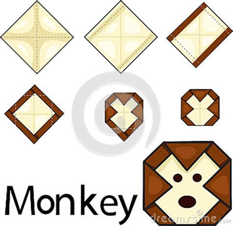 Origami Illustrator - illustrator of monkey origami royalty free stock image