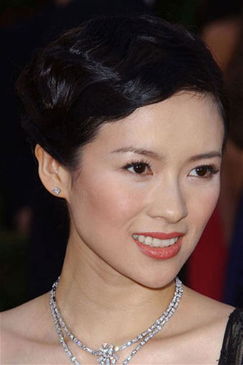 ziyi thin hair zhang ziyi s finger wave hairstyle wedding formal