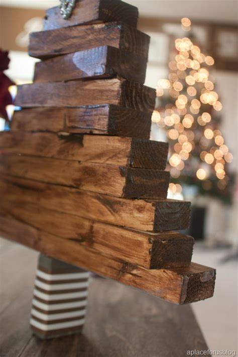 easy christmas craft wooden christmas tree
