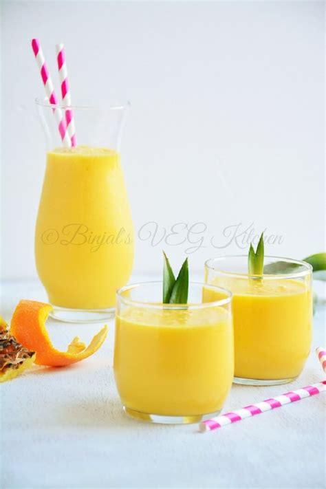 Jine Pineapple Orange Mango pineapple mango orange smoothie binjal s veg kitchen