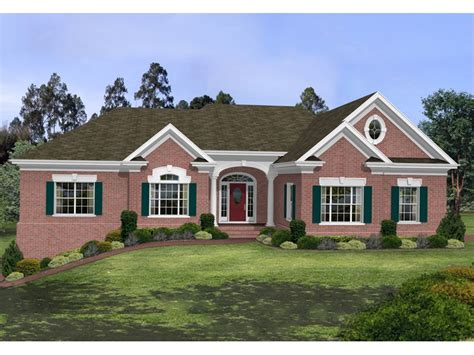 brick ranch house stovall park brick ranch home plan 013d 0100 house plans