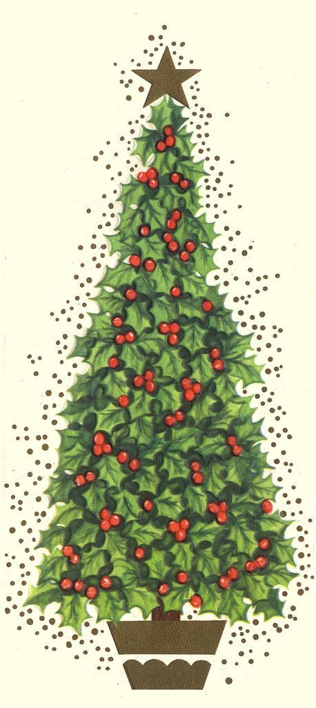 holly berry christmas tree christmas misc illustrations