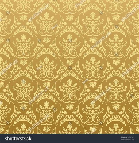 gold pattern background vector vector seamless gold pattern art ornament stock vector
