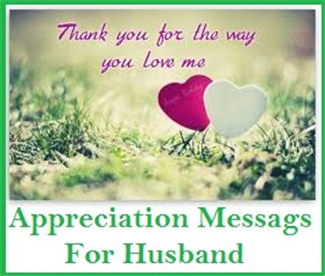 Thank You Letter Husband Thank You Messages Husband