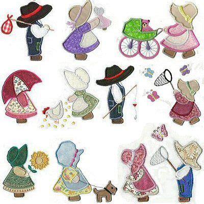 Sunbonnet Sue Applique by 150 Applique Sunbonnet Sue And Sam Embroidery Designs