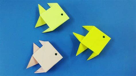 1 Paper Origami - free coloring pages how to make an origami paper fish 1