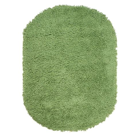ultimate shag rug home decorators collection ultimate shag lime green 5 ft x 7 ft oval area rug 7575490620 the