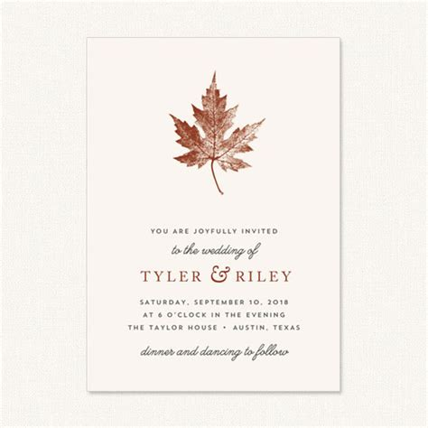 Unique Fall Wedding Invitations by Wedding Catalogue Wedding Invitations Stationery