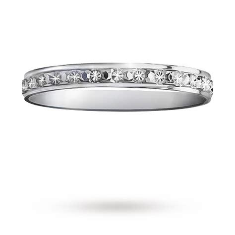 2 5mm cut wedding band in 9 carat white