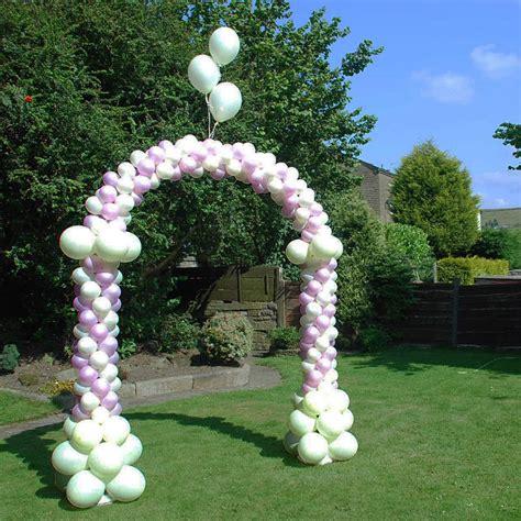 Wedding Arch Balloons by Garden Wedding Event Decoration Walk Through Balloon Arch