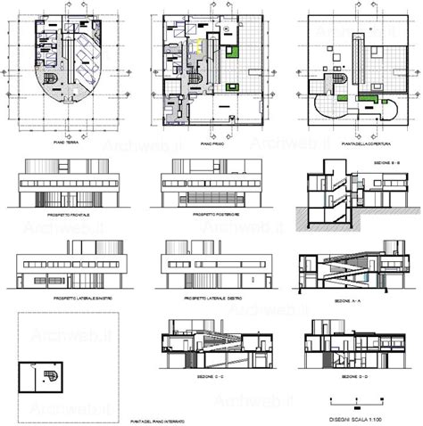 villa savoye floor plan dwg ville savoye le corbusier e jeanneret