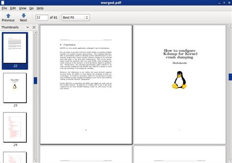 linux join tutorial how to merge pdf documents in linux tutorial