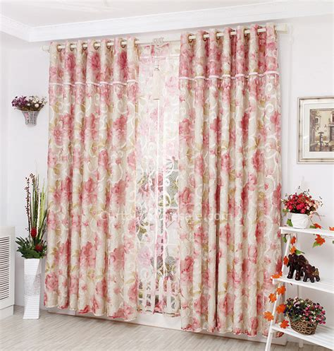 shabby chic bedroom curtains princess insulated patterned embroidery pink shabby chic