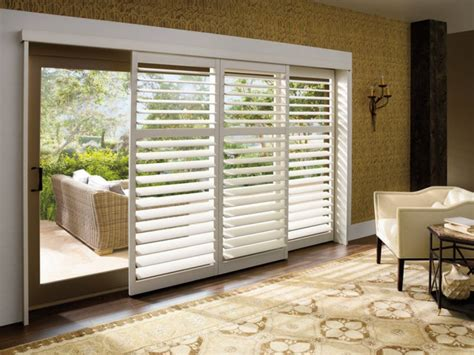 Interior Plantation Shutters Home Depot sliding glass door window treatments for your efficiency