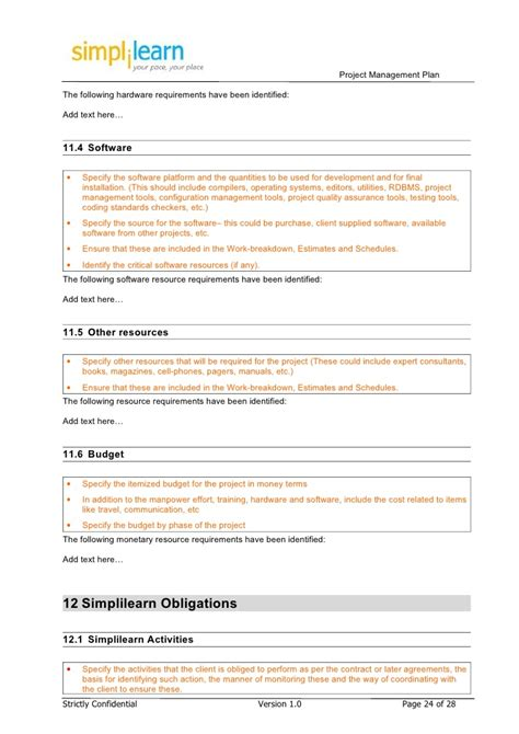 project plan template pmi project management plan project management