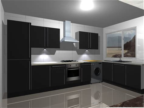 B Q Kitchen Cabinets kitchen units complete with high gloss black doors ebay