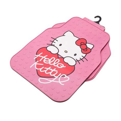jual auto one hello dengan hati pink karpet mobil