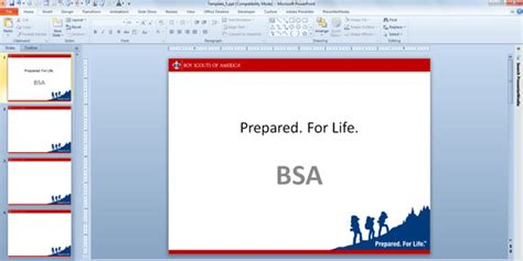 bsa card template boy scouts their own powerpoint template designs