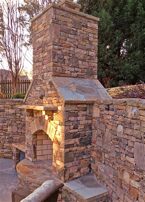 outdoor chimney fireplace outdoor fireplaces atlanta outside custom fireplace
