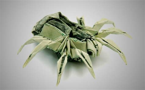 Origami Spider Crab - sweet pleasure dollar origami