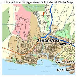 aerial photography map of santa ca california